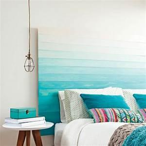 Tete De Lit Bleu : t te de lit en palette un projet peu co teux pour vos ~ Premium-room.com Idées de Décoration