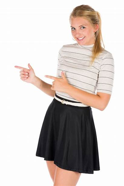 Pointing Woman Young Transparent Background Finger Domain