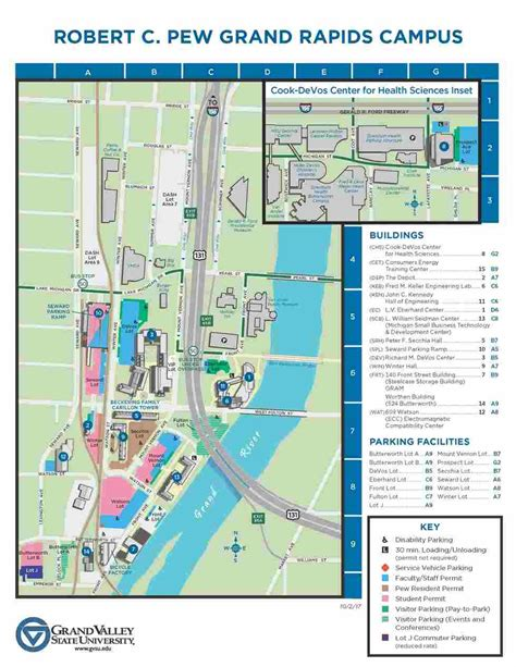 Grand Valley Pew Campus Map.Gvsu Downtown Campus Map