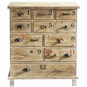 Cabinet Maison Du Monde : distressed wood cabinet w 82cm anatole maisons du monde ~ Teatrodelosmanantiales.com Idées de Décoration