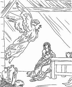 Coloring Page Angel Appears To Mary Coloring Page