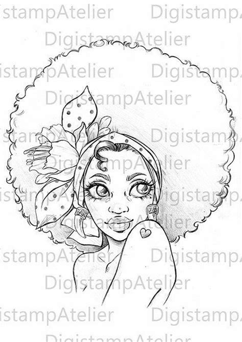 Pin by Patricia josephson on drawings   Afro girl, Afro