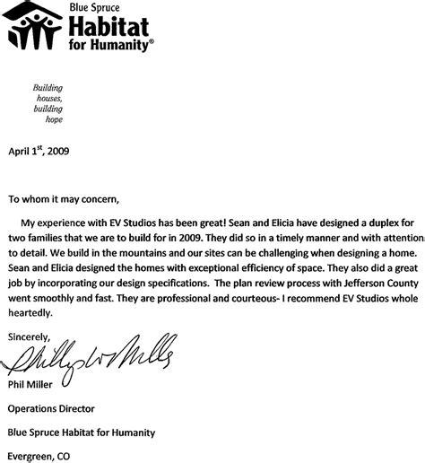 evstudio recommendation letter  phil miller