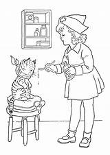 Nurse Coloring Playing Pages sketch template