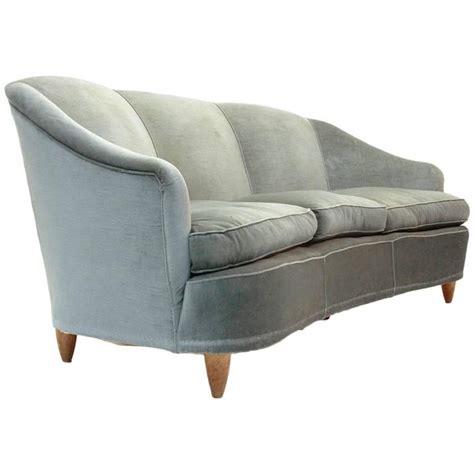 mid century velvet sofa mid century italian curved velvet sofa 1950s at 1stdibs