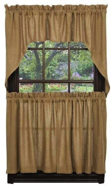 burlap curtain tiers    ihf india home fashions