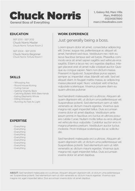 minimal cv resume template psd ultralinx