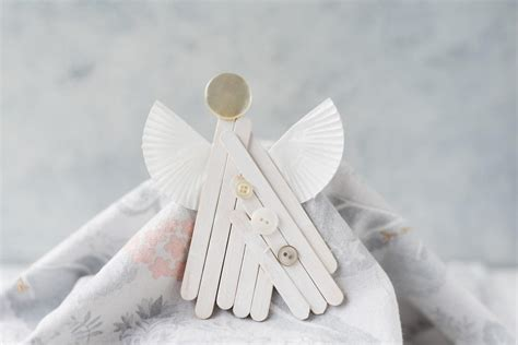 popsicle stick angel ornament craft favecraftscom