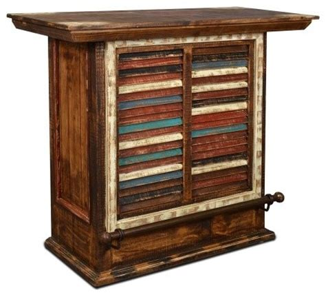 reclaimed wood bar cabinet rustic reclaimed painted solid wood bar and wine cabinet
