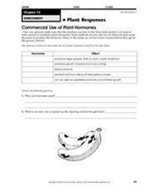 Commercial Use Of Plant Hormones Worksheet For 3rd  8th Grade  Lesson Planet