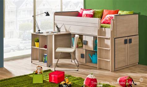 lit bureau armoire combiné lit enfant combine bureau 90x200 gum