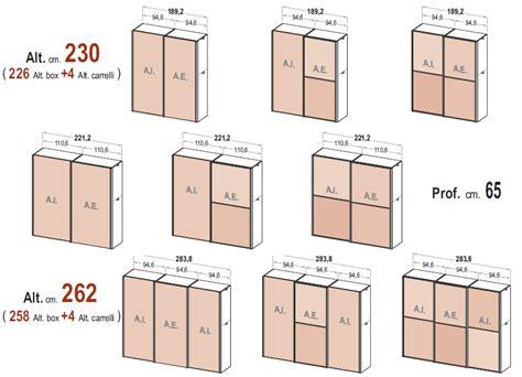grandezza cabina armadio le misure degli armadi dielle