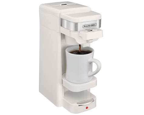 Single serve coffee makers have been a rage among home appliance buyers this year. Single-Serve Coffee Maker (white)-49978 - ProctorSilex.com