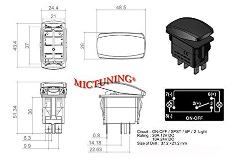 Mictuning Pin Laser Zombie Rocker Switch Off Led Light