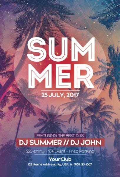 summer flyer templates free ffflyer summer party free flyer template flyer for