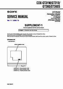 Sony Cdx-gt310 Service Manual