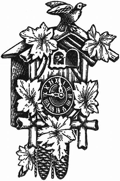 Clock Cuckoo Clip Bird Clocks Clipart Tattoo
