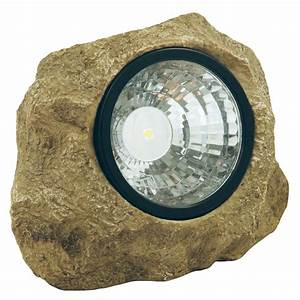 moonrays solar powered led poly resin outdoor rock With outdoor solar lights rocks