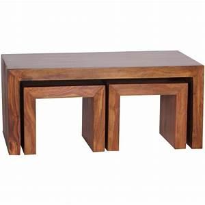 Table Bois Massif Design : table basse en bois massif design ~ Teatrodelosmanantiales.com Idées de Décoration