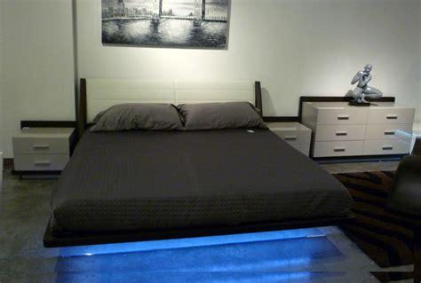 contemporary platform bed with lights modern led bedroom set rivera contemporary bedroom