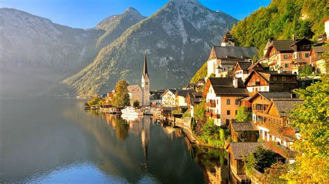 wallpaper hallstaetter  lake austria  world