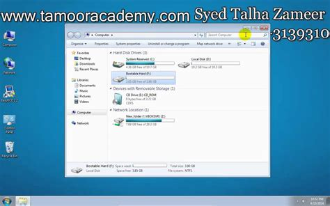 how to install windows 7 without usb and dvd room in urdu by syed talha zameer