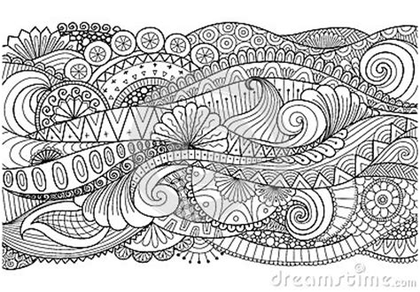 boho pattern  background decorationsbannercoloring bookcards    stock vector