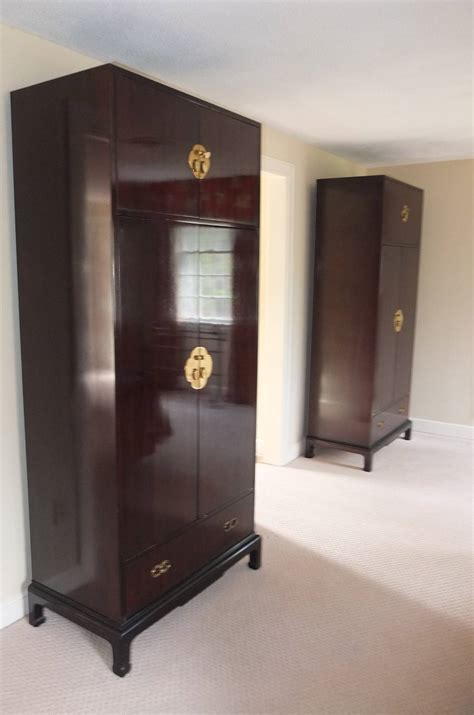 Narrow Armoire Wardrobe by Pair Of Narrow Armoires By Henredon At 1stdibs
