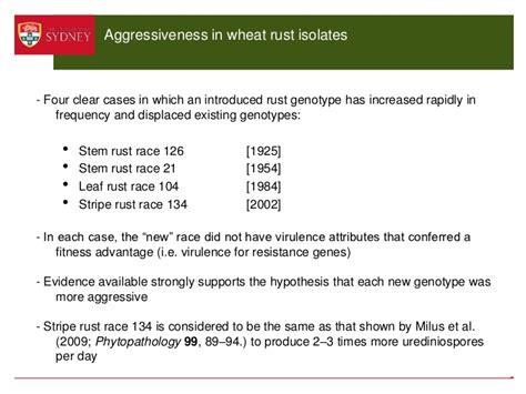 aggressiveness rust wheat sweeps continental pathogens