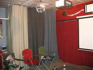 Garage Turned Party Room Love The Curtains Hiding Quotjunk
