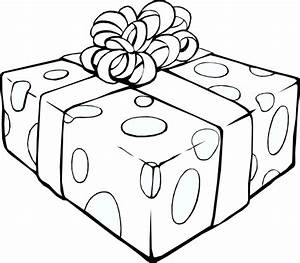 ภาพระบายสี : กล่องของขวัญ [Gift Box Coloring Page ...