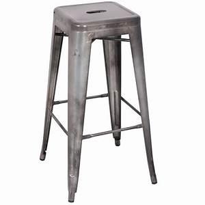 Tabouret De Bar Gris : tabouret de bar iron gris m tal ~ Teatrodelosmanantiales.com Idées de Décoration