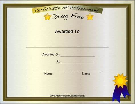 printable certificate    presented