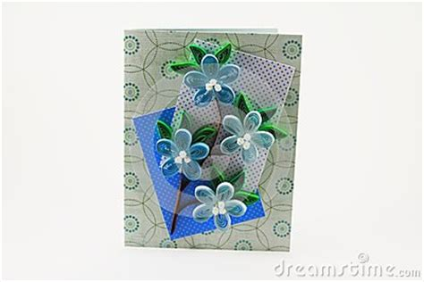 card  quilling flowers stock images image
