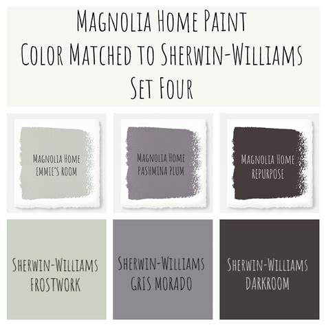 joanna gaines magnolia home paint color matched to sherwin