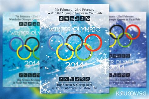 winter olympic flyer flyer templates creative market