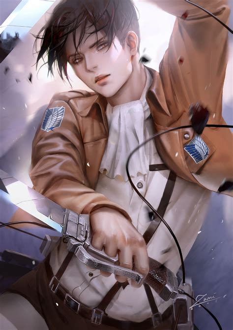 All throughout the final arc we have seen citizens scream these words for violence, for cheering on genocide but here levi was. zumidraws - Zerochan Anime Image Board