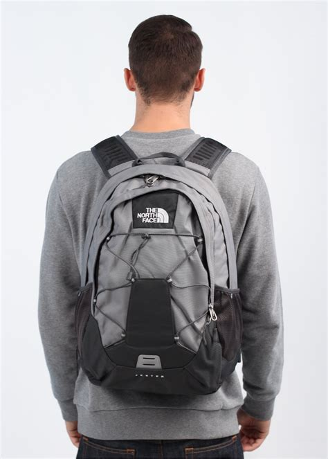 north face jester bag grey