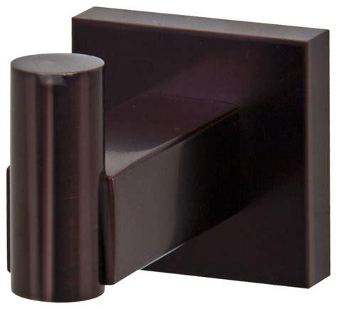 Modern Bronze Bathroom Accessories by Vigo Square Design Single Hook Rubbed Bronze
