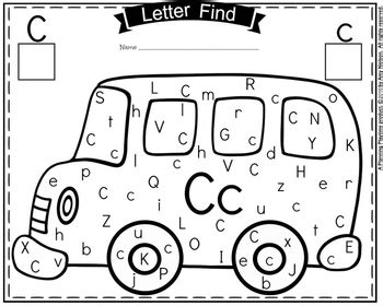letter find school bus theme  planning playtime tpt
