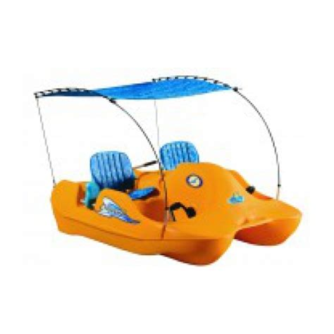 Self Bailing Pedal Boat by Water Bee 202 Deluxe 4 Person Self Bailing Paddle Boat
