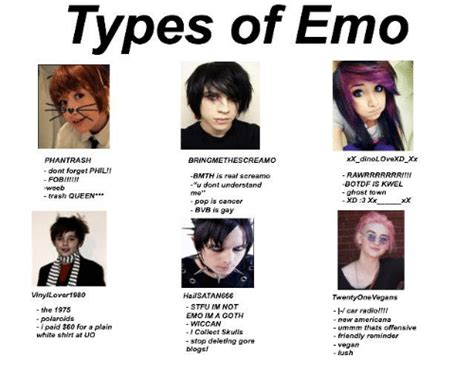 Types Of Emo Xxdinolovexd Xx Phantrash Bring Methescreamo