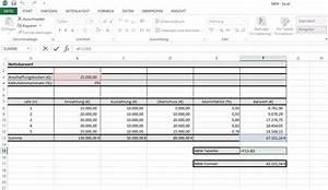 Nutzungsdauer Berechnen : nbw wie man den nettobarwert in excel berechnet excelnova ~ Themetempest.com Abrechnung