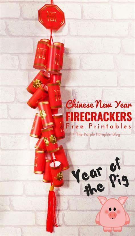 printable chinese  year firecrackers  year