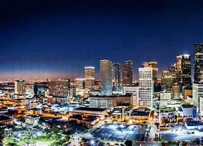 Houston Panoramic Skyline Night Tx Shot Breathtaking