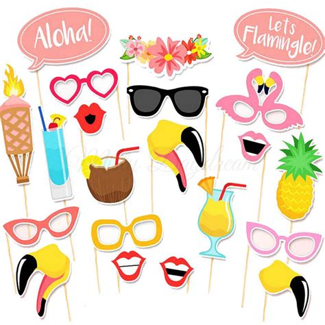 baby boy shower themes decorations flamingo summer photo booth props set of 21