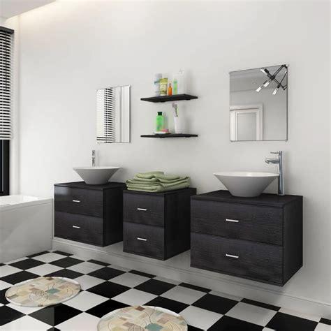mobili con lavabo articoli per vidaxl nove pezzi set mobili da bagno con