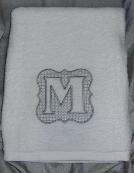 embossed initial bath towel handmade embroidery designs machine embroidery sewing appliques