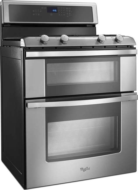 """WGG555S0BS   Whirlpool 30"""" Freestanding Gas Double Oven"""