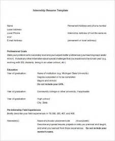 resume for an internship template internship resume template 11 free sles exles psd format free premium